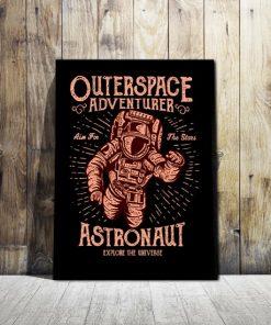 dekoracje z kosmonautom
