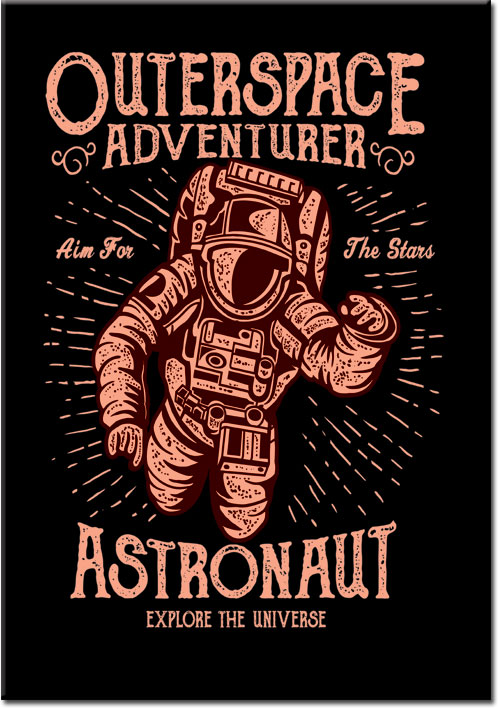 plakaty z astronautom