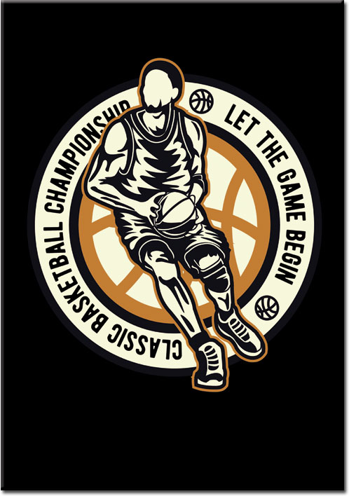 plakaty z basketball
