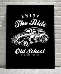 plakaty z samochodami retro