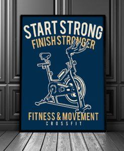 plakaty z rowerkiem
