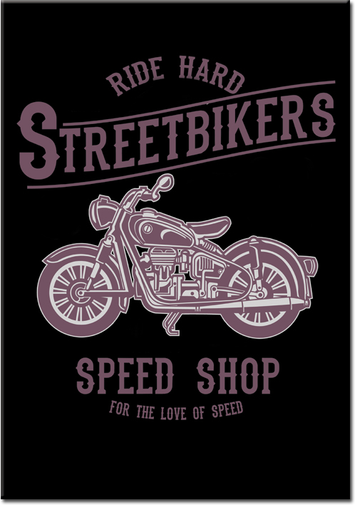 plakaty z motocyklem