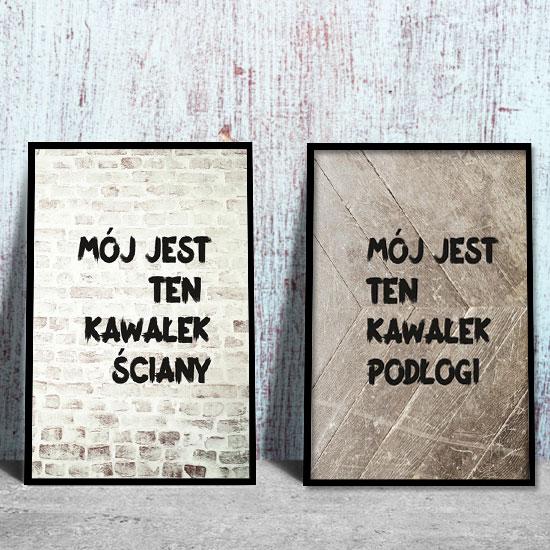 Plakat Dyptyk Mój Kawałek I ściany I Podłogi