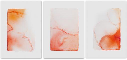 plakaty z pomarańczową abstrakcją