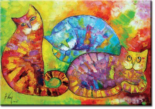 plakat z reprodukcją kocia sjesta