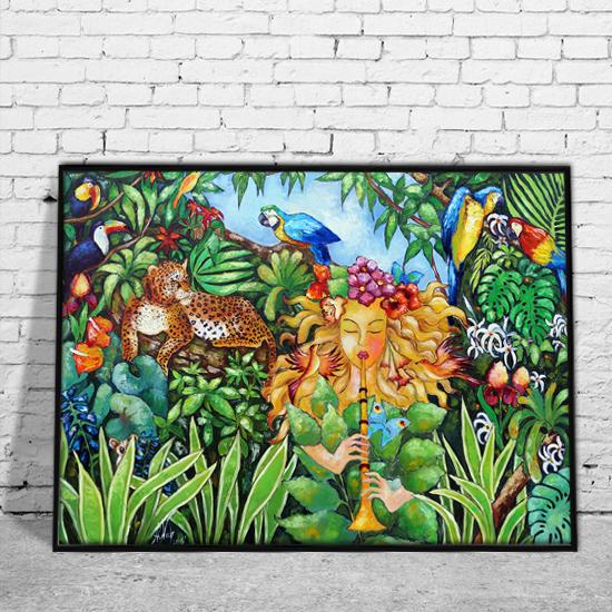 Plakat Z Reprodukcją Obrazu Dżungla