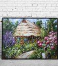 plakat jak malowany - stara chata