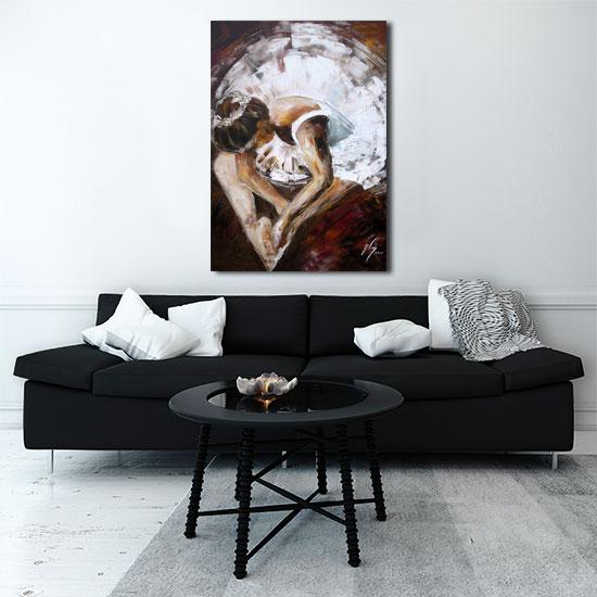 Obrazy w ramach do salonu