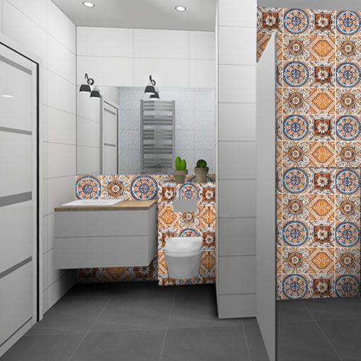 marokańskie naklejki do łazienki