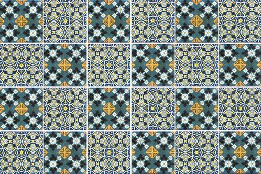 naklejki dekoracyjne w stylu Azulejo