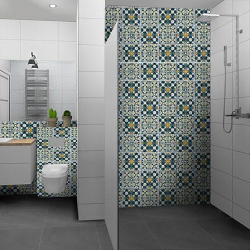 naklejki na kafelki do łazienki - marokańskie motywy