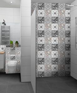 marokańskie naklejki na płytki w łazience