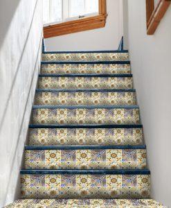 marokańskie naklejki na schody - piękne wzory