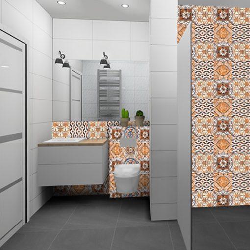 piękne naklejki marokańskie na kafelki do łazienki