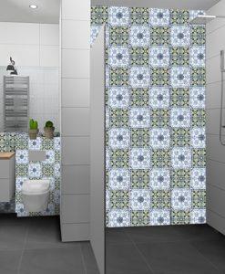 naklejki - motywy marokańskie na płytki w łazience
