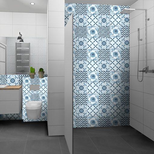 naklejki z motywem portugalskim na płytki w łazience