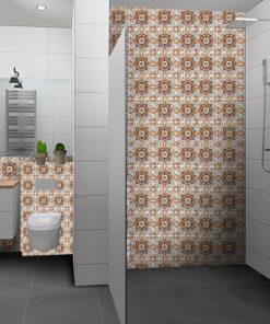 naklejki marokańskie na ścianę z płytek w łazience