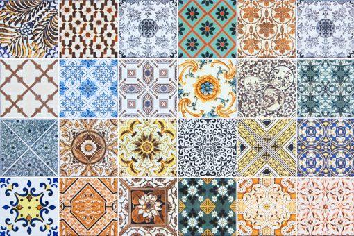 kolorowe, marokańskie naklejki na kafelki