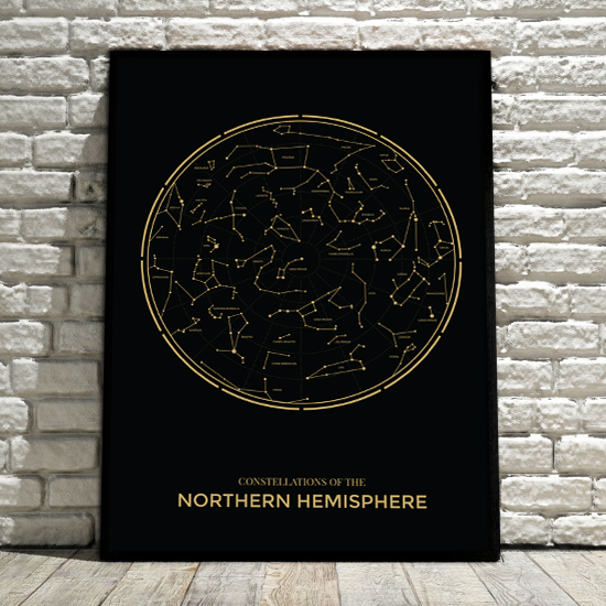 Plakat Northern Hemisphere