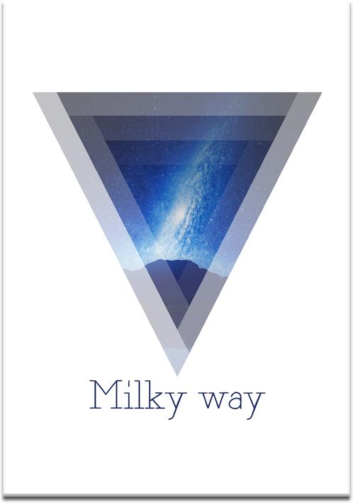 Plakat Droga Mleczna