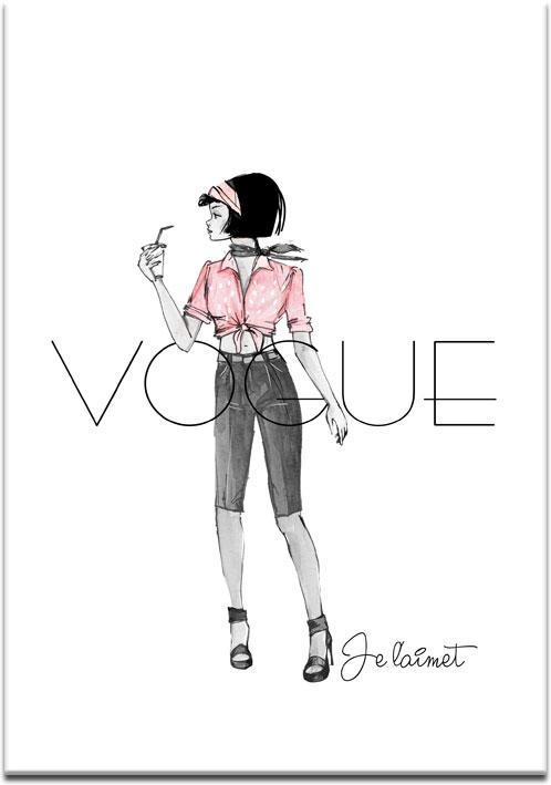 plakaty z modą