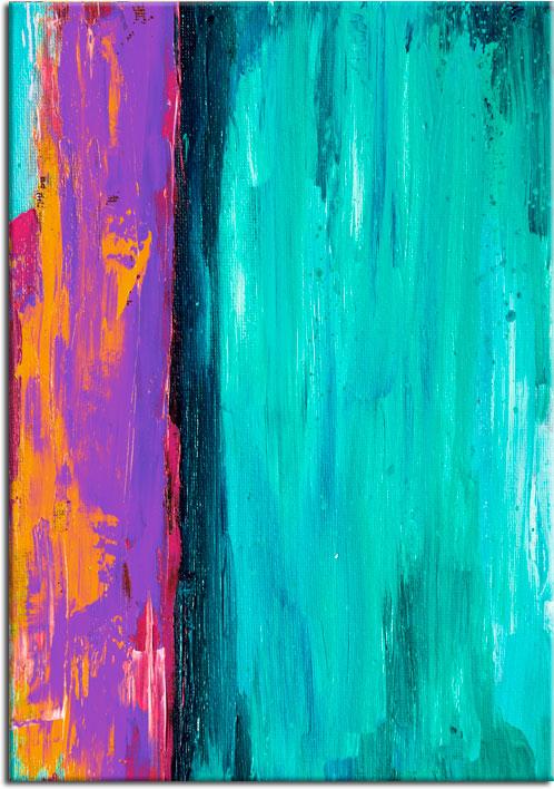 plakaty z neonowymi kolorami