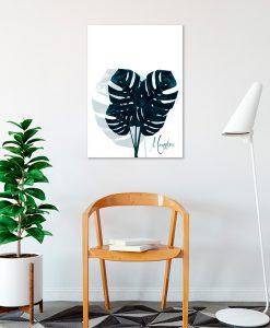 plakaty z roślinami tropikalnymi