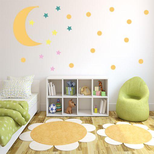 dekoracja z księżycem