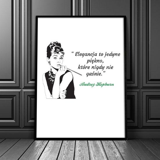 Plakat Ze Słowami A Hepburn