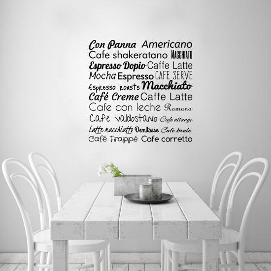 Naklejki na ścianę do kuchni napisy