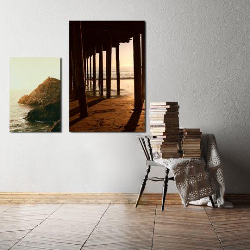 plakaty w ramie z krajobrazami