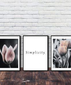 tryptyk z tulipanami