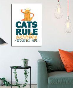 plakat z sentencją o kotach