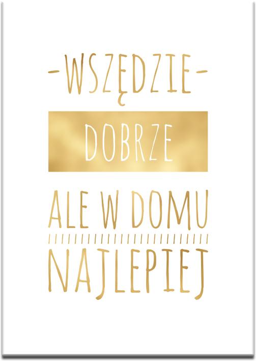 złota dekoracja do salonu jako plakat