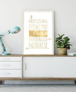 złota ramka z plakatem jak złoto