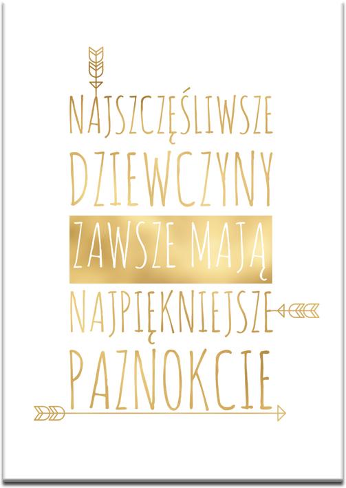 plakat złoty w ramce