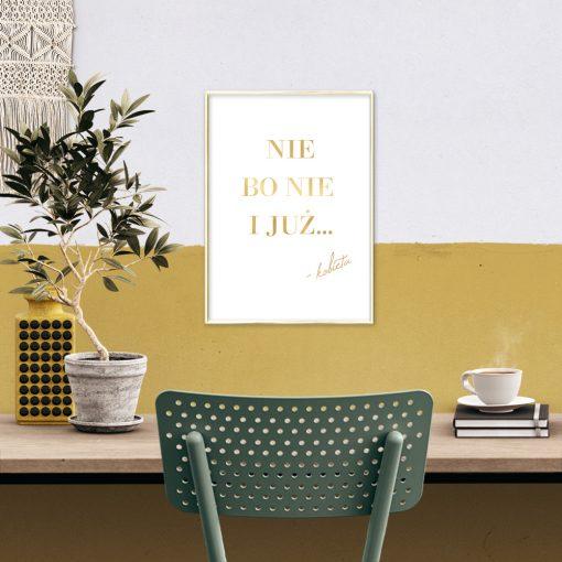 plakat z napisem: nie bo nie i już