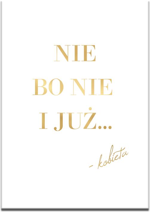biało-złoty plakat do salonu lub sypialni