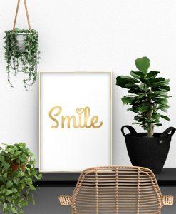 plakat złoty smile