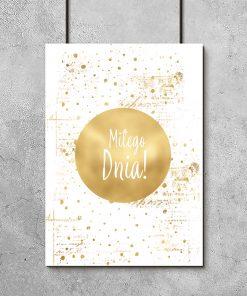 złoty plakat i napis
