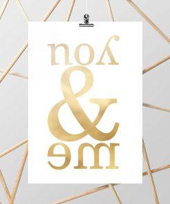 plakat metaliczny jako dekoracja