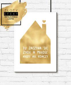 plakat z domkiem