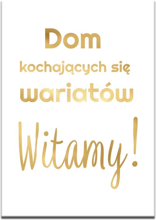 złoty plakat jako modna dekoracja