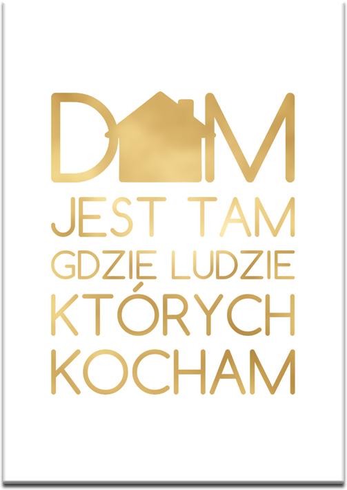 złoty plakat z domem