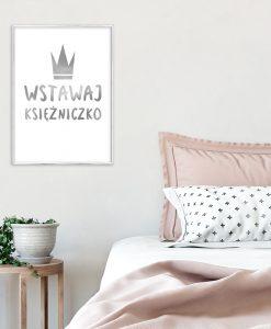 srebrny plakat do sypialni