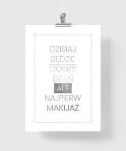napis srebrny na plakacie