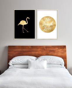 złoty plakat z dyptykami