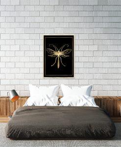 złoty komar jako plakat