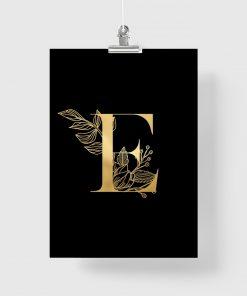 plakat jako złota litera