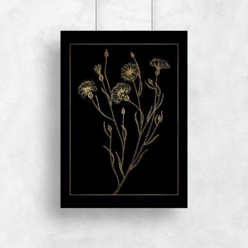 plakat z motywem roślin